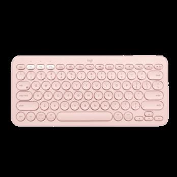 מקלדת Bluetooth בצבע ורוד מבית Logitech דגם K380